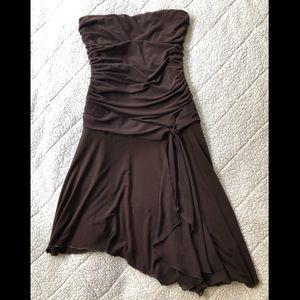 Strapless Asymmetrical Wrapper Dress